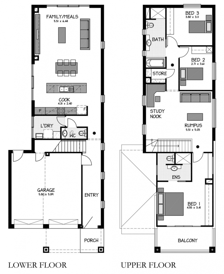 Garage Plans Blueprints 26 X 36 3 Car Traditional: Rossdale Homes - Adelaide